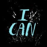 Un mot positif, appels pour l'action Expression pour la motivation, pour une affiche, pour une impression, T-shirts lettrage illustration stock