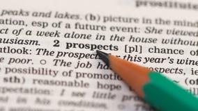 Un mot potentiel dans le vocabulaire anglais, la planification du développement des affaires, les chances clips vidéos