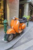 Un motociclo avvantaggioso a Melbourne Fotografia Stock