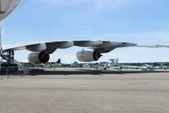 Un motor de turboventilador Rolls-Royce Trent 900 los aviones más grandes del mundo - Airbus A380 Imagen de archivo libre de regalías