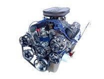 Un motor de V8 del cromo del alto rendimiento fotografía de archivo libre de regalías