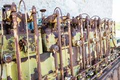 Un motor diesel anticuado viejo fotos de archivo libres de regalías
