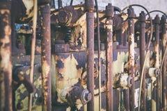 un motor diesel anticuado viejo - efecto de la película del vintage fotos de archivo libres de regalías