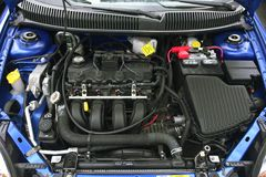 Un motore da due litri Fotografie Stock