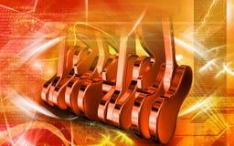 Un motore dei cinque colpi Immagini Stock