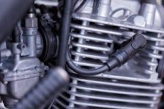 Un motore del motociclo di 125 centimetri cubici Fotografia Stock Libera da Diritti
