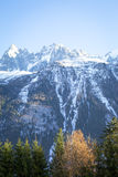 Un Mountain View in alpi francesi Fotografie Stock Libere da Diritti