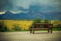 Un Mountain View di grande Tetons Fotografie Stock Libere da Diritti
