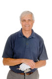 Un más viejo golfista Imagen de archivo