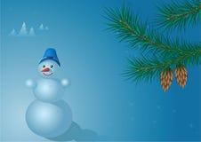 Un muñeco de nieve stock de ilustración