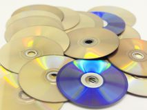 Un mucchio dei CD fotografia stock