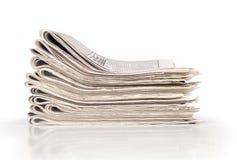 Un mucchio dei giornali fotografie stock libere da diritti