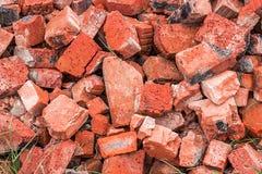 Un mucchio dei mattoni rotti Fotografia Stock Libera da Diritti