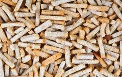 Un mucchio dei pezzi secchi del pane Fotografia Stock Libera da Diritti