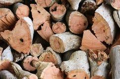 Un mucchio del legno tagliato del fuoco Fotografia Stock Libera da Diritti