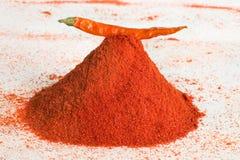Un mucchio della spezia dei peperoncini rossi Fotografie Stock Libere da Diritti