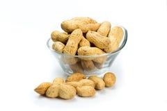 Un mucchio delle arachidi Fotografia Stock Libera da Diritti