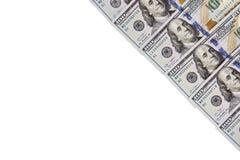 Un mucchio delle banconote degli Stati Uniti con i ritratti di presidente Contanti delle banconote in dollari, immagine di sfondo Fotografie Stock Libere da Diritti