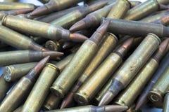 5,56 Fondo delle pallottole Fotografie Stock Libere da Diritti
