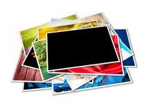Un mucchio delle fotografie con spazio per il vostro marchio o testo Immagine Stock Libera da Diritti
