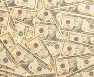Un mucchio di 10 dollari affinchè spendano Fotografia Stock Libera da Diritti