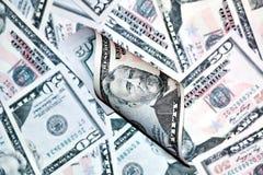 Un mucchio di cinquanta dollari Immagine Stock