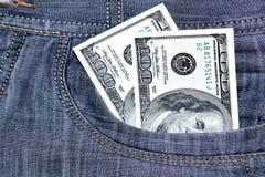 Un mucchio di cinquanta dollari Fotografie Stock Libere da Diritti