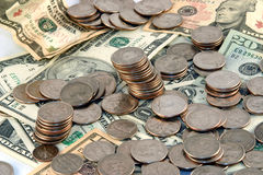 Un mucchio di soldi Immagine Stock