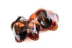 Un mucchio di un film da 35 millimetri Immagini Stock