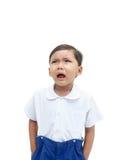 Un muchacho gritador Imágenes de archivo libres de regalías