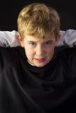 Un muchacho joven consigue trastorno Foto de archivo