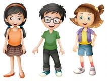 Un muchacho y muchachas Imagen de archivo