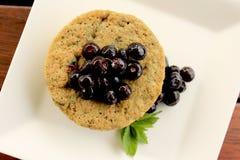 Un muffin ai mirtilli minuto 4 Fotografie Stock