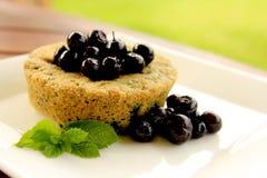 Un muffin ai mirtilli minuto 1 Fotografia Stock Libera da Diritti