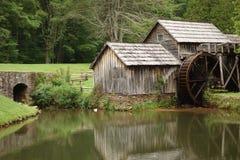 Un mulino storico nella Virginia fotografie stock