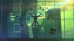 Un multi-spécialiste en informatique illustration de vecteur