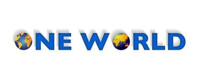 Un mundo, tierra o globo Imágenes de archivo libres de regalías