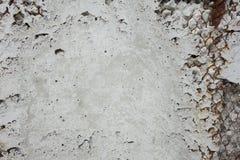 Un mur cassé montrant les barres d'acier rouillées Image stock
