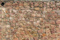 Un mur défensif puissant - maçonnerie photo libre de droits