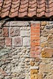 Un mur d'une vieille maison Images stock