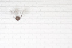 Un mur de briques blanc Photos stock
