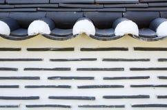 Un mur de briques d'un style coréen Image libre de droits