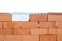 Un mur de briques symbolique images stock