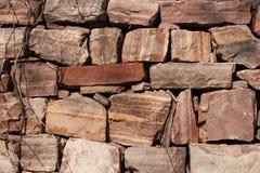 Un mur en pierre en vallée de Longtan à Luoyang Photo libre de droits
