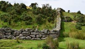Un mur fonctionnant le long du milieu d'Exmoor Image libre de droits