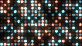 Un mur orange-bleu éclatant de lumière banque de vidéos