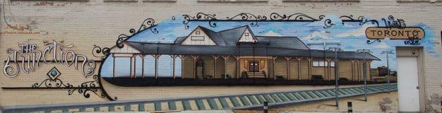 Un mural local de la pintada en Toronto Foto de archivo