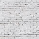 Un muro di mattoni bianco Fotografia Stock Libera da Diritti