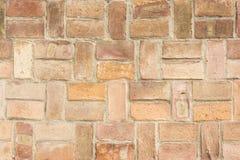 Un muro di mattoni molto vecchio Fotografie Stock