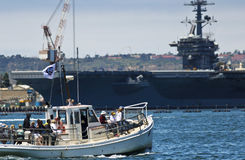 Un museo marítimo de San Diego Bay Tour imagen de archivo libre de regalías